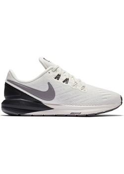 Buty sportowe damskie Nike do biegania zoom białe gładkie sznurowane