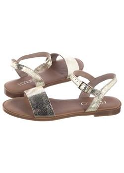 Złote buty damskie ryłko, lato 2020 w Domodi