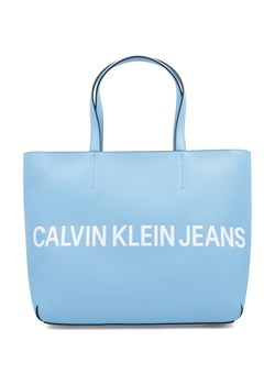 Shopper bag Calvin Klein niebieska do ręki