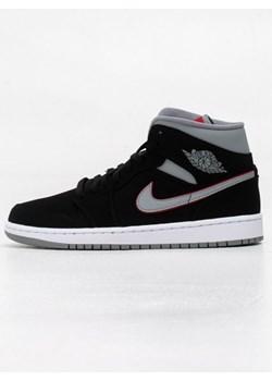 Czarne buty sportowe męskie Jordan nike air skórzane sznurowane