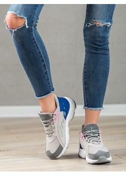 Buty sportowe damskie CzasNaButy sznurowane na płaskiej podeszwie gładkie