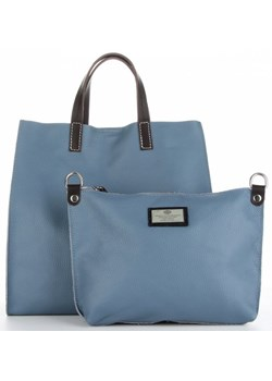 Shopper bag Genuine Leather niebieska