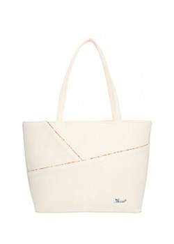 Shopper bag Karen Collection beżowa