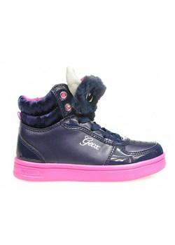 Buty zimowe dziecięce Geox sznurowane bez wzorów w Domodi