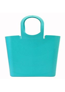 Niebieska shopper bag Gregorio matowa do ręki