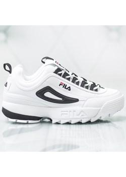 Buty sportowe męskie Fila białe sznurowane na wiosnę