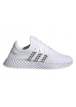 Buty sportowe damskie Adidas młodzieżowe białe bez wzorów