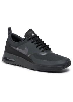 Czarne buty sportowe damskie nike nike air max thea, wiosna