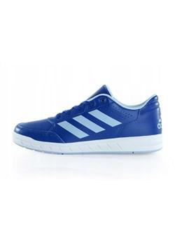 Buty sportowe dziecięce niebieskie Adidas wiązane w Domodi