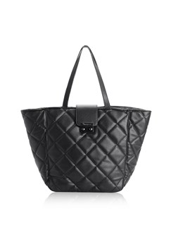 czarna torebka pikowana duża shopper bag