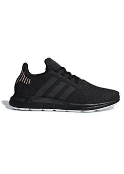 Buty sportowe damskie Adidas do biegania czarne płaskie