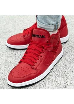 Czerwone buty sportowe męskie Nike air jordan sznurowane
