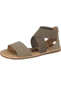 Sandały damskie Sorel casual bez obcasa bez zapięcia ze skóry