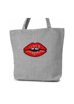 Shopper bag Royalfashion.pl bez dodatków na ramię