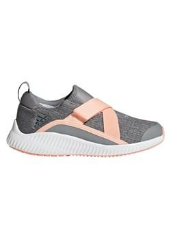 Buty sportowe damskie Adidas Performance dla biegaczy szare na płaskiej podeszwie z gumy