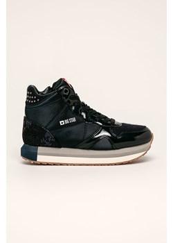 Sneakersy damskie Big Star gladkie sznurowane na platformie