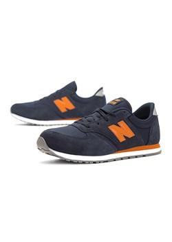 Granatowe buty sportowe dzieciece New Balance zamszowe