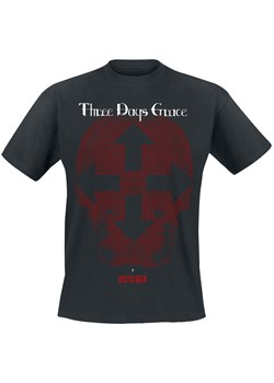 T-shirt męski czarny Three Days Grace