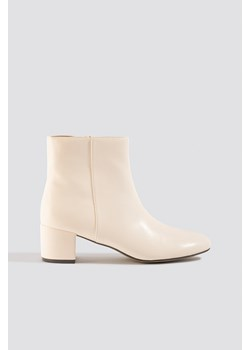 NA-KD Shoes Soft Low Heel Booties - White