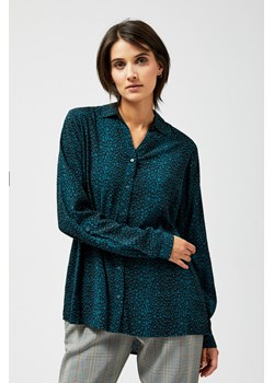 Koszula damska turkusowa House z długimi rękawami gładka  p7r21