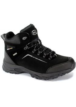 Czarne buty trekkingowe męskie American Club sportowe