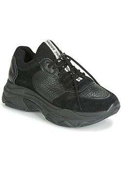 Bronx buty sportowe damskie wiązane czarne z nubuku w Domodi