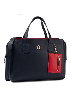 Shopper bag Tommy Hilfiger granatowa