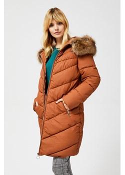markowe kurtki płaszcze damskie zimowe z kapturem