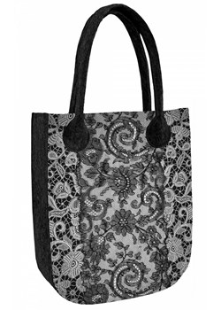 Shopper bag Bertoni z filcu boho