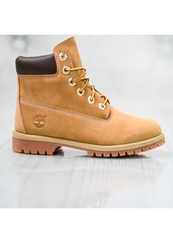 Buty zimowe dziecięce Geox z nubuku trapery