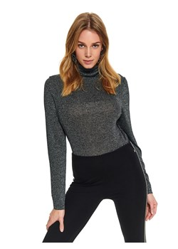 Sweter damski Top Secret casualowy z golfem z dzianiny