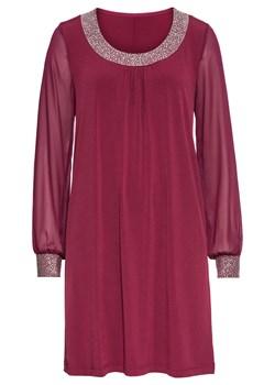 Sukienka BODYFLIRT z długim rękawem z okrągłym dekoltem wyszczuplająca na sylwestra midi