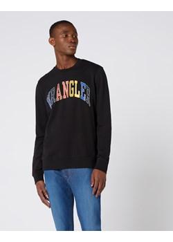 Czarne bluzy męskie z nadrukiem wrangler, wiosna 2020 w Domodi
