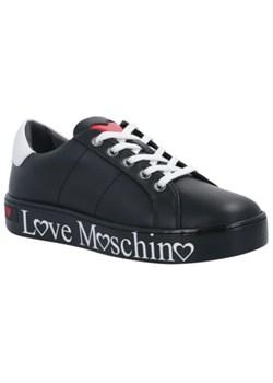 Trampki damskie Love Moschino czarne skórzane wiosenne w Domodi