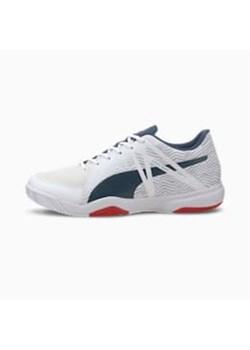 Buty sportowe damskie granatowe Puma nike dual fusion na płaskiej podeszwie gładkie
