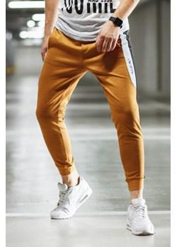 Pomarańczowe spodnie męskie, wiosna 2020 w Domodi