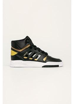 Sneakersy damskie czarne Adidas Originals ze skry