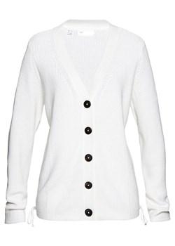 Białe swetry rozpinane bonprix, wiosna 2020 w Domodi