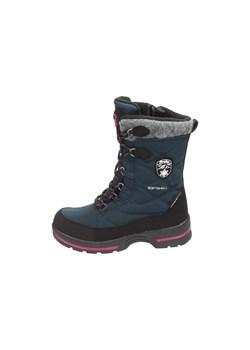 Buty zimowe dla dużych dzieci (chłopców) JOBMW405 morska zieleń szary 4F