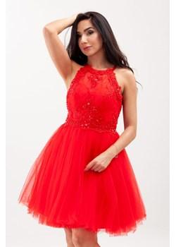 butik domodi sukienka czerwona koronkowa