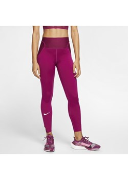 Damskie legginsy 7/8 do biegania Nike City Ready - Fiolet