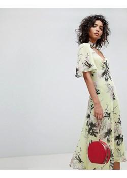 Sukienki boho na sylwestra w wyprzedaży, wiosna 2020 w Domodi