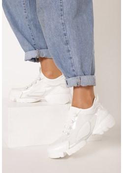Sneakersy damskie białe Czasnabuty.pl młodzieżowe na platformie