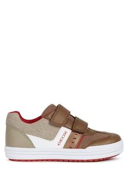 Brązowe buty dziecięce geox, wiosna 2020 w Domodi