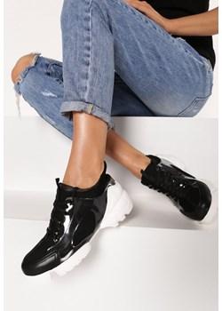 Buty sportowe damskie Born2be sneakersy sznurowane płaskie