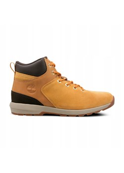 Pomarańczowe buty trekkingowe damskie, wiosna 2020 w Domodi