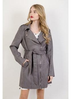 Olika płaszcz damski zamszowy