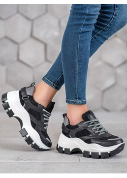 Buty damskie sneakersy Asics Gel Kayano Trainer Origami Pack H6D0N 0101 czarny sneakerstudio.pl