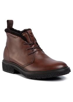 Buty zimowe męskie Ecco z tworzywa sztucznego eleganckie