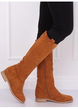 buty botki kowbojki gładkie 2574-2b